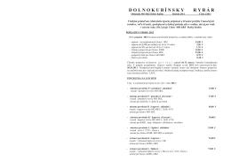 Dolnokubínsky rybár, občasník, 2/2011
