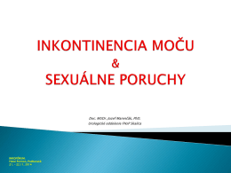INKONTINENCIA MOČU A SEXUÁLNE PORUCHY