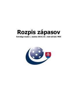 MEX-rozpis - Dudovic.sk