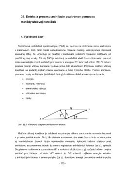 38. Detekcia procesu anihilácie pozitrónov