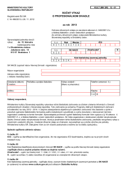 Kult (MK SR) 12-01 - Ministerstvo kultúry SR