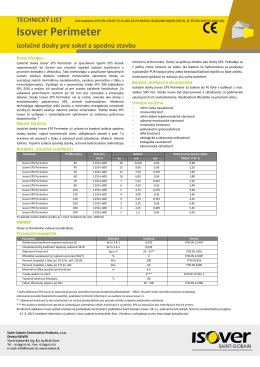 Isover Perimeter izolačné dosky pre sokel a spodnú stavbu