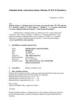 výzva na predloženie ponuky cvičenie MŠ december13