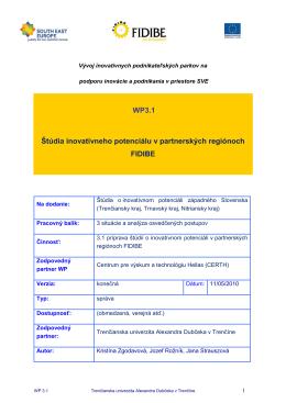 WP 3.1 Slovakia_FINAL_svk