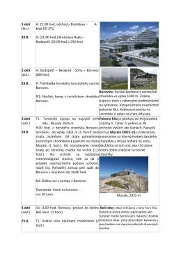 Program hory Bulharska