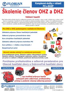 Prospekt školenie OHZ a DHZ v pdf