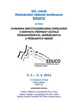 aktuální program pro vedoucí sekcí - konference Štrba 2012