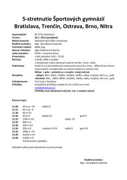 Názov podujatia: 5-stretnutie Športových gymnázií