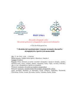 POZVÁNKA - Slovenská spoločnosť olympijských a športových