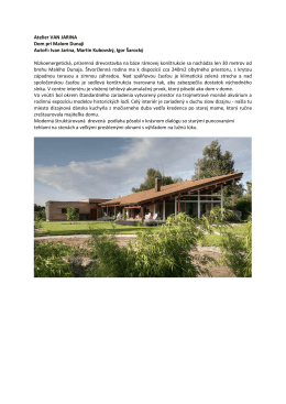 Atelier VAN JARINA Dom pri Malom Dunaji Autoři
