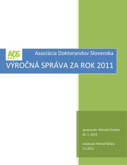 Správa o činnosti ADS za rok 2011