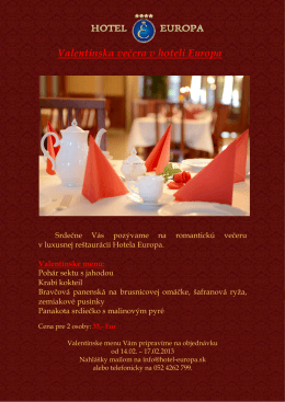 valentinske menu