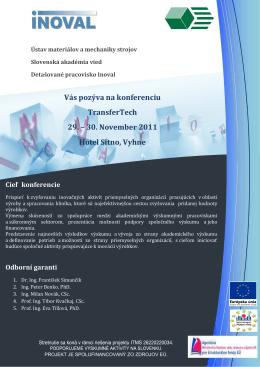 Pozvanka a program_TransferTech