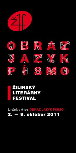 ŽILINSKÝ LITERÁRNY FESTIVAL 2. — 9. október 2011