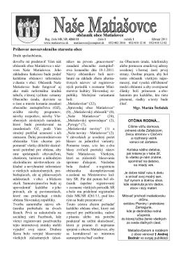 Naše Matiašovce - 1. vydanie 2011