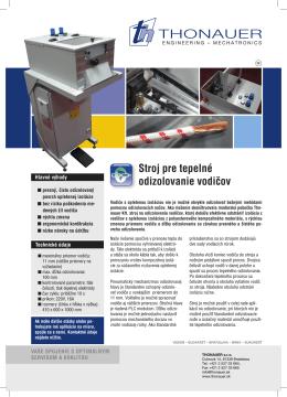 Stroj pre tepelné odizolovanie vodiăov