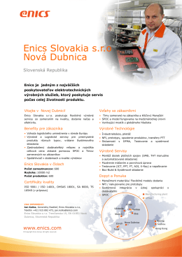 Enics ND Factsheet SVK_2014