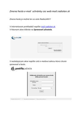 Zmena hesla webmail