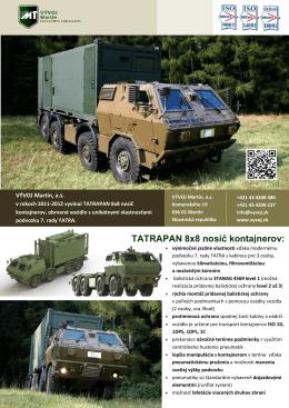 TATRAPAN 8x8 nosič kontajnerov: