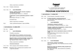 program Cement 2010_svk