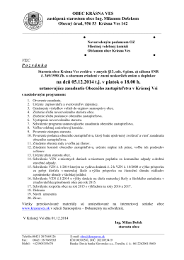 Pozvánka na OZ 05.12.2014