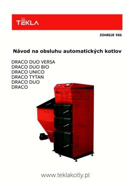 Návod na obsluhu automatických kotlov