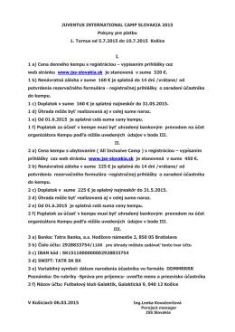 Pokyny pre platbu Košice - jss