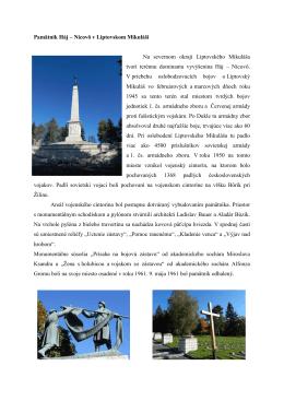 Pamätník Háj – Nicovô v Liptovskom Mikuláši Na