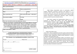 Žiadosť rodičov dieťaťa o vyslúženie 1. sv. prijímania v