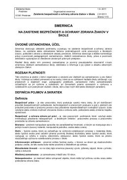SMERNICA - Základná škola Predmier