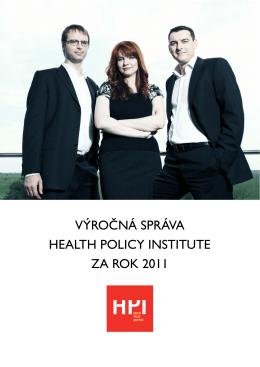 Výročná správa HPI za rok 2011