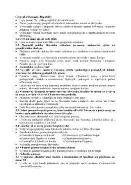 Geografia Slovenskej Republiky • Urcte polohu