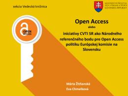 Informácie z diskusií k Open Access politike