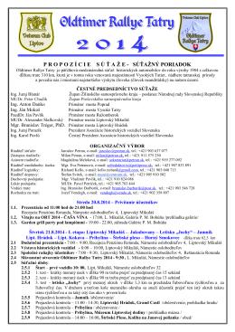 ORT 2014 Propozície SK