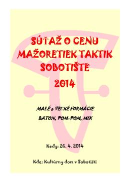 SÚŤAŽ O CENU MAŽORETIEK TAKTIK SOBOTIŠTE 2014