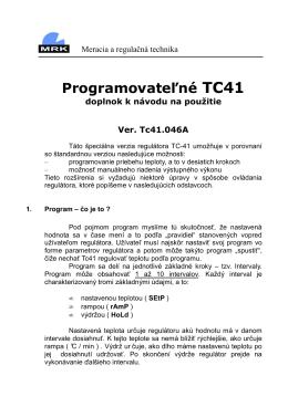 TC-41 Programovateľný regulátor