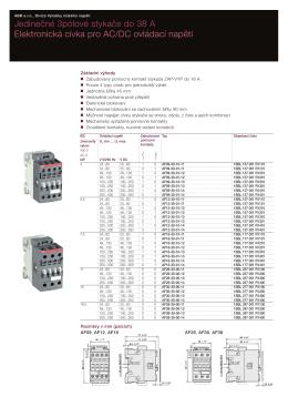 Jedinečné 3pólové stykače do 38 A Elektronická cívka pro AC/DC
