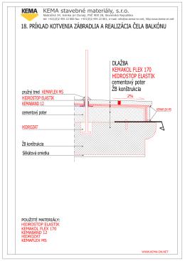 Príklad kotvenia zábradlia a realizácia čela balkónu