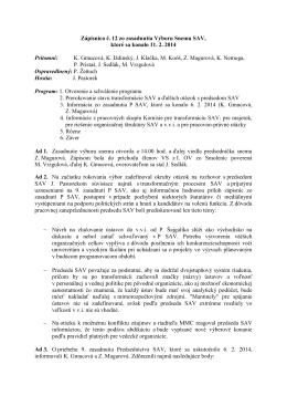 Výbor Snemu SAV č. 12