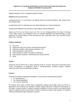 Zápisnica AS 10/2014 - Hochschule Goethe Uni Bratislava