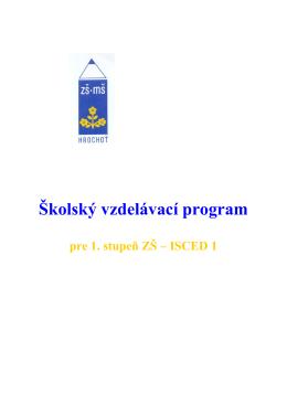 I. stupeň ŠkVP 2013-2014 - Základná škola s materskou školou