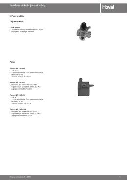 Motorické trojcestné kohúty - technický katalog
