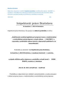 Inšpektorát práce Bratislava