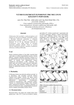 návrh elektrických pohonov pre mecanum kolesový