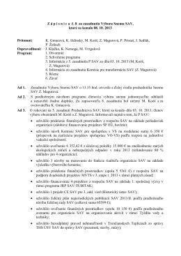 Výbor Snemu SAV č. 08 - Snem Slovenskej akademie vied