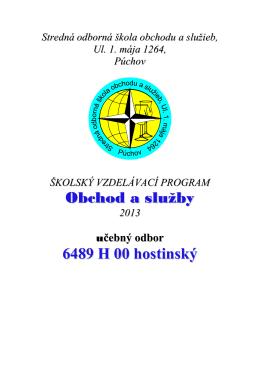 Obchod a služby 6489 H 00 hostinský