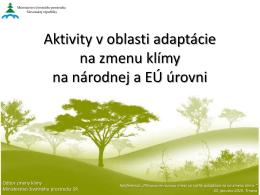Aktivity v oblasti adaptácie na zmenu