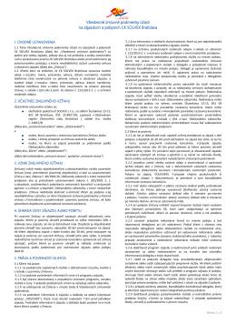 Všeobecné zmluvné podmienky účasti na zájazdoch a