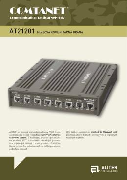 AT21201 Hlasová komunikačná brána (produktový list)