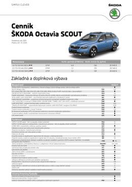Cenník Škoda octavia SCoUT Cenník Škoda octavia SCoUT